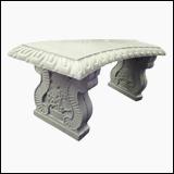 نیمکت سنگی طرح رومی