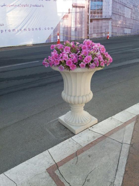 گلدان سیمانی طرح رومی