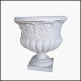 گلدان کوچک رومی با طراحی گل و بوته
