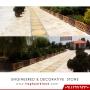 نرده حصاری باغچه و آلاچیق سنگ مصنوعی طرح کلاسیک