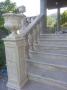 ستون ايستگاه نرده تراس، با طراحي گل و بوته